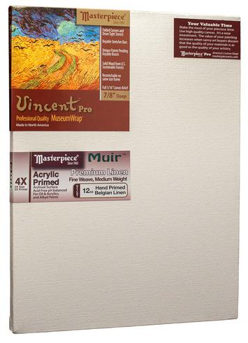 """12x16 Vincent™ PRO 7/8"""" Muir™ Acrylic Primed Belgian Linen picture"""