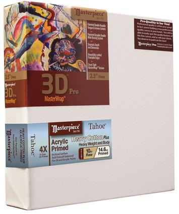 """8x10 3D™ PRO 3.5"""" Tahoe™ 10oz Triple Acrylic Primed Cotton picture"""