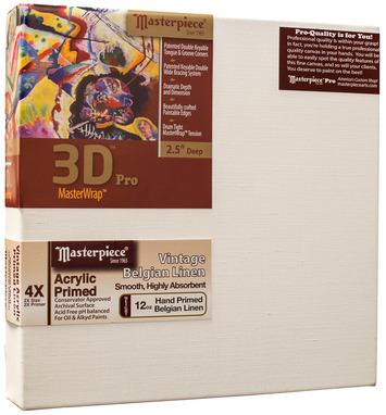 """2 Units - 6x12 3D™ PRO 2.5"""" Vintage™ Acrylic Primed Linen picture"""