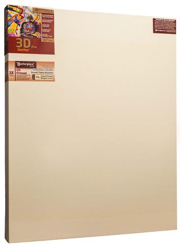 """2 Units - 45x60 3D™ PRO 2.5"""" Vintage™ Oil Primed Linen picture"""
