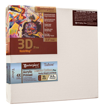 """20x20 3D™ PRO 2.5"""" Tahoe™ 10oz Triple Acrylic Primed Cotton picture"""