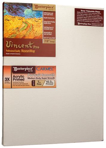 """5 Units - 11x14 Vincent™ PRO 7/8"""" Carmel™ Portrait Smooth Cotton picture"""