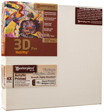 """2 Units - 9x16 3D™ PRO 2.5"""" Vintage™ Acrylic Primed Linen picture"""