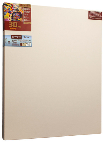 """18x48 3D™ PRO 2.5"""" Tahoe™ 10oz Triple Acrylic Primed Cotton picture"""
