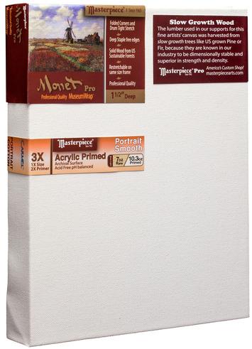 """3 Units - 12x12 Monet™ PRO 1.5"""" Carmel™ Portrait Smooth Cotton picture"""