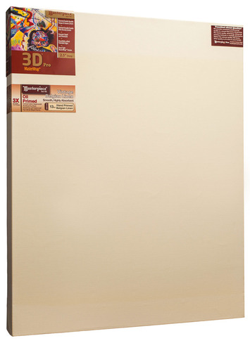 "2 Units - 27x36 3D™ PRO 2.5"" Vintage™ Oil Primed Linen picture"