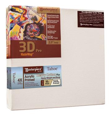"""2 Units - 6x12 3D™ PRO 2.5"""" Tahoe™ 10oz Triple Acrylic Primed Cotton picture"""