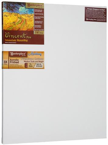 """5 Units - 21x27 Vincent™ PRO 7/8"""" Monterey™ 7oz Acrylic Primed Cotton picture"""