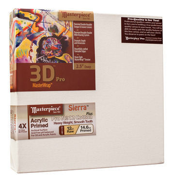 "2 Units - 18x18 3D™ PRO 2.5"" Sierra™ 12oz Heavy Triple Primed picture"