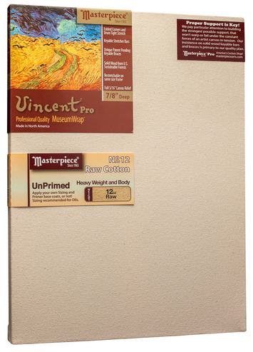 """4x9 Vincent™ PRO 7/8"""" Raw Unprimed No. 12 Heavy Cotton picture"""