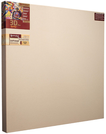 """2 Units - 60x60 3D™ PRO 2.5"""" Raw Unprimed No. 12 Heavy Cotton picture"""