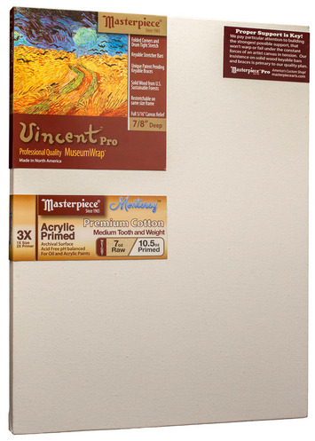"""11x14 Vincent™ PRO 7/8"""" Monterey™ 7oz Acrylic Primed Cotton picture"""