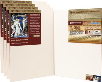 5-Pack 9x12 Monterey™ Masterpiece® Hardcore Pro Canvas Panel™ picture