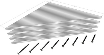 """Steel Triangular Corner Supports for Elite and 3D Frame Styles (4-Pack) 8x8x1/4"""" picture"""
