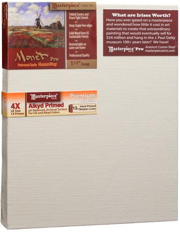 """4x9 Monet™ PRO 1.5"""" Malibu™ Alkyd Oil Primed Linen picture"""