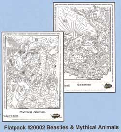 Color 'n Seek Beasties & Mythical Animals Flatpack picture