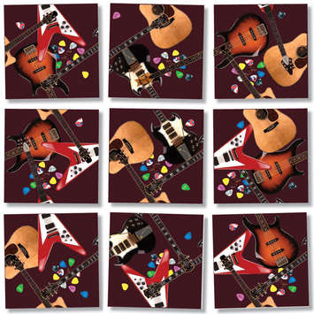 Guitars Scramble Squares® picture