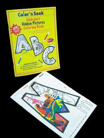 Color 'n Seek®, Alphabet Hidden Pictures Coloring Book Only picture