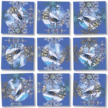 Snowflakes, Scramble Squares® picture