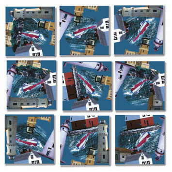Greatlakes' Lighthouses Scramble Squares® picture