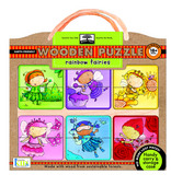green start™ wooden puzzles: rainbow fairies