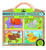 green start™ wooden puzzles: playful pals