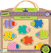green start™ chunky wooden puzzles: swish fish