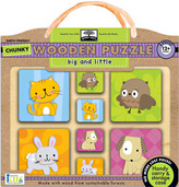 green start™ chunky wooden puzzles: big and little