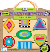 green start™ chunky wooden puzzles: shape parade