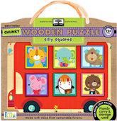 green start™ chunky wooden puzzles: silly squares