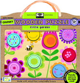 green start™ chunky wooden puzzles: circle garden