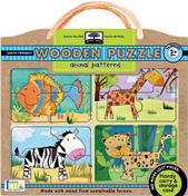 green start wooden puzzles: animal patterns