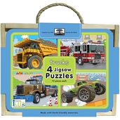 green start jigsaw puzzle box set trucks
