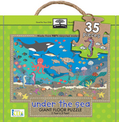 green start giant floor puzzles: under the sea