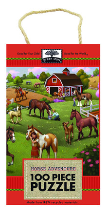 green start 100 piece puzzle: horse adventure picture