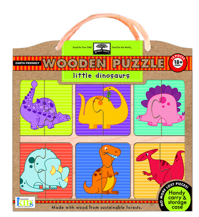 green start wooden puzzles: little dinosaurs picture