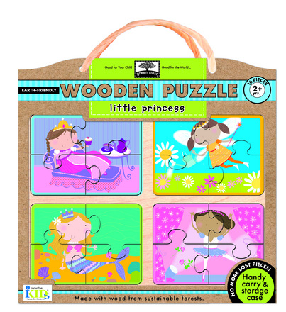 green start wooden puzzles: little princess picture
