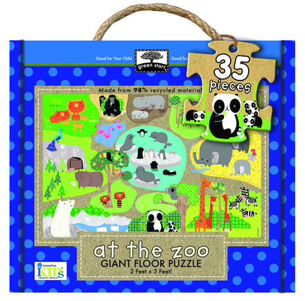 green start giant floor puzzle: at the zoo picture