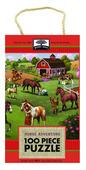 green start 100 piece puzzle: horse adventure