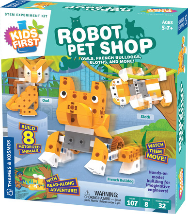 Kids First Robot Pet Shop: Owls, Hedgehogs, Sloths, and More! picture