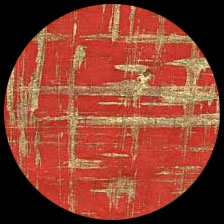 """Nepalese Screenprinted Lokta Paper - Gold Brush on Regal Red   20"""" x 30"""" picture"""