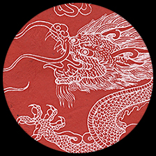 "Dragon Beasts-Red/White, 19.5"" x 30"" picture"
