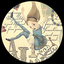 "Alice in Wonderland, 27"" x 36"" picture"