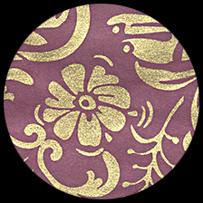 """Moonflowers-Gold/Plum 25"""" x 37"""" picture"""