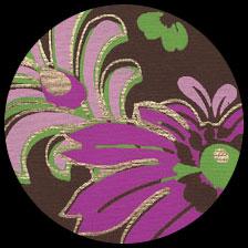 """Fern & Flora Screenprint-Chocolate 21"""" x 29"""" picture"""