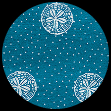 """Sand Dollars - Silver on Blue, 22"""" x 30"""" picture"""