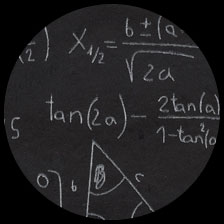 """Chalkboard-Equations 20"""" x 30"""" picture"""