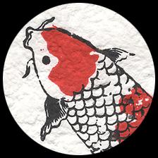 "Koi Fish - Red/Black, 21"" x 31"" picture"