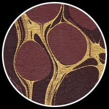 "Molecular Metallic - Garnet/Gold, 22"" x 30"" picture"