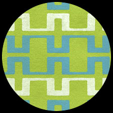 "Metro-Lime/Aqua 19.5"" x 27.5"" picture"